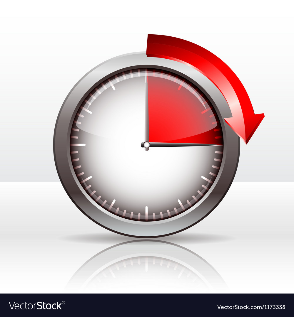 Timer clock vector | Price: 1 Credit (USD $1)