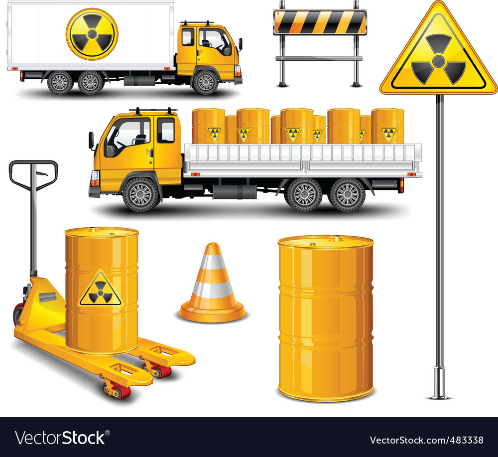 Transport with radioactive waste vector | Price: 1 Credit (USD $1)