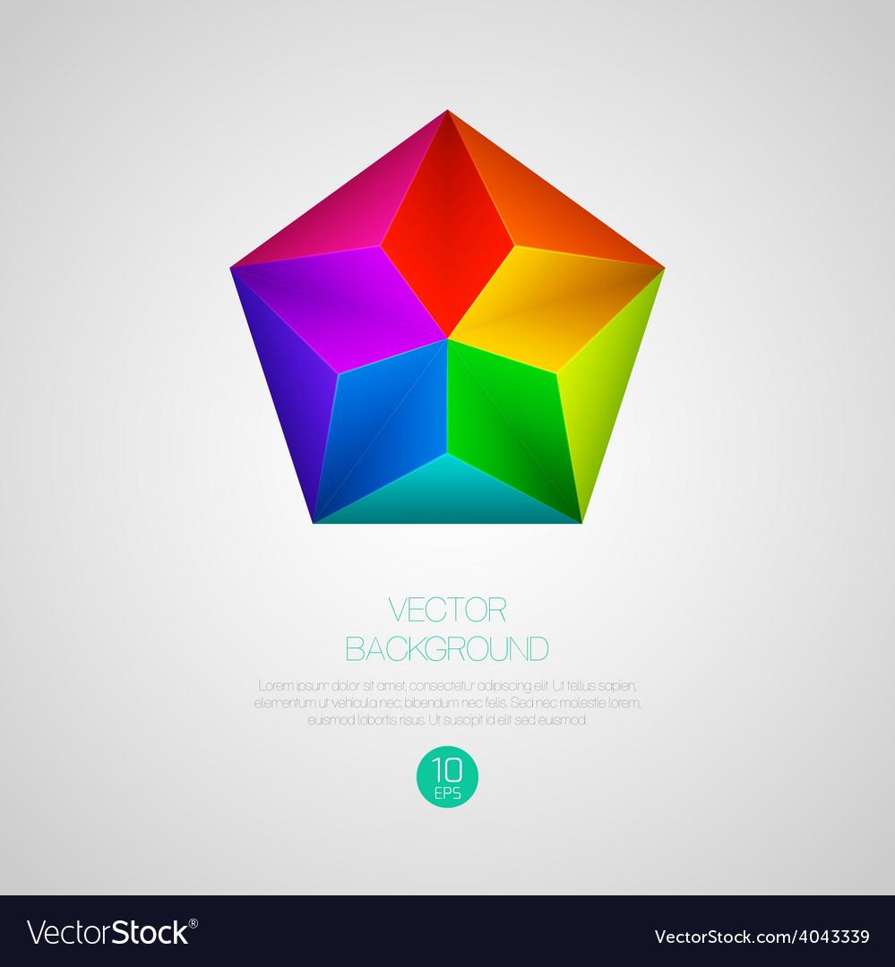 3d triangular background vector | Price: 1 Credit (USD $1)