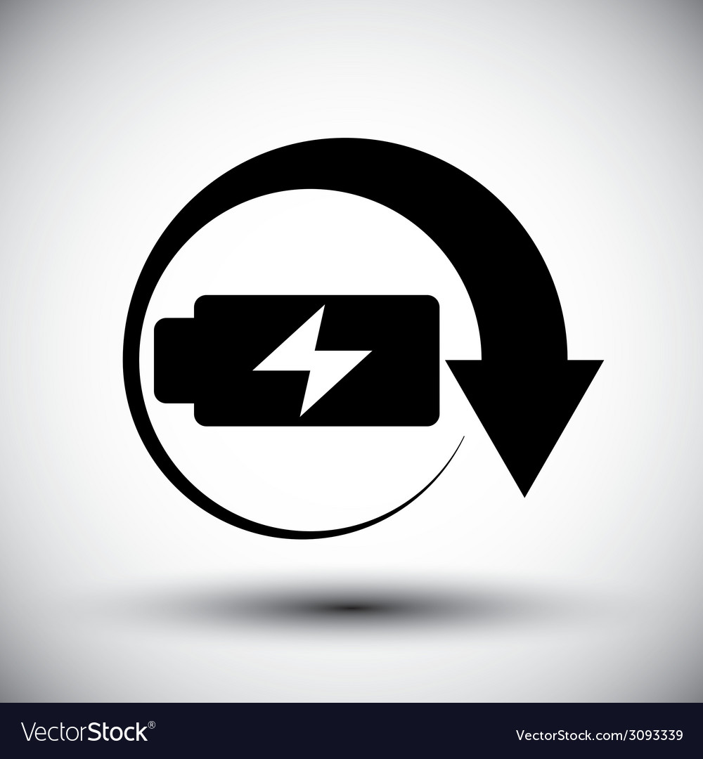 Battery simplistic symbol charge indicator icon vector | Price: 1 Credit (USD $1)