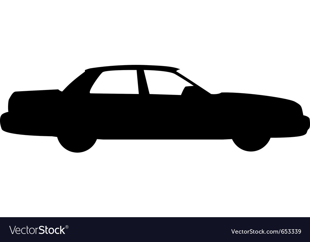 City car silhouette vector | Price: 1 Credit (USD $1)