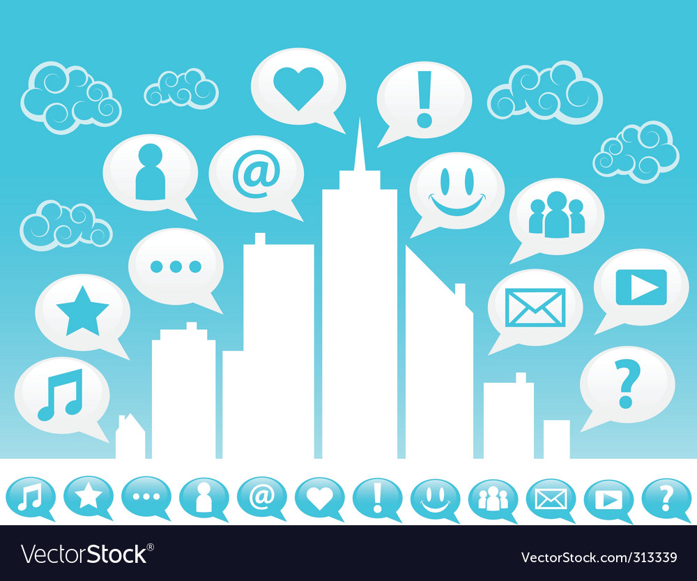 City social icons vector   Price: 1 Credit (USD $1)