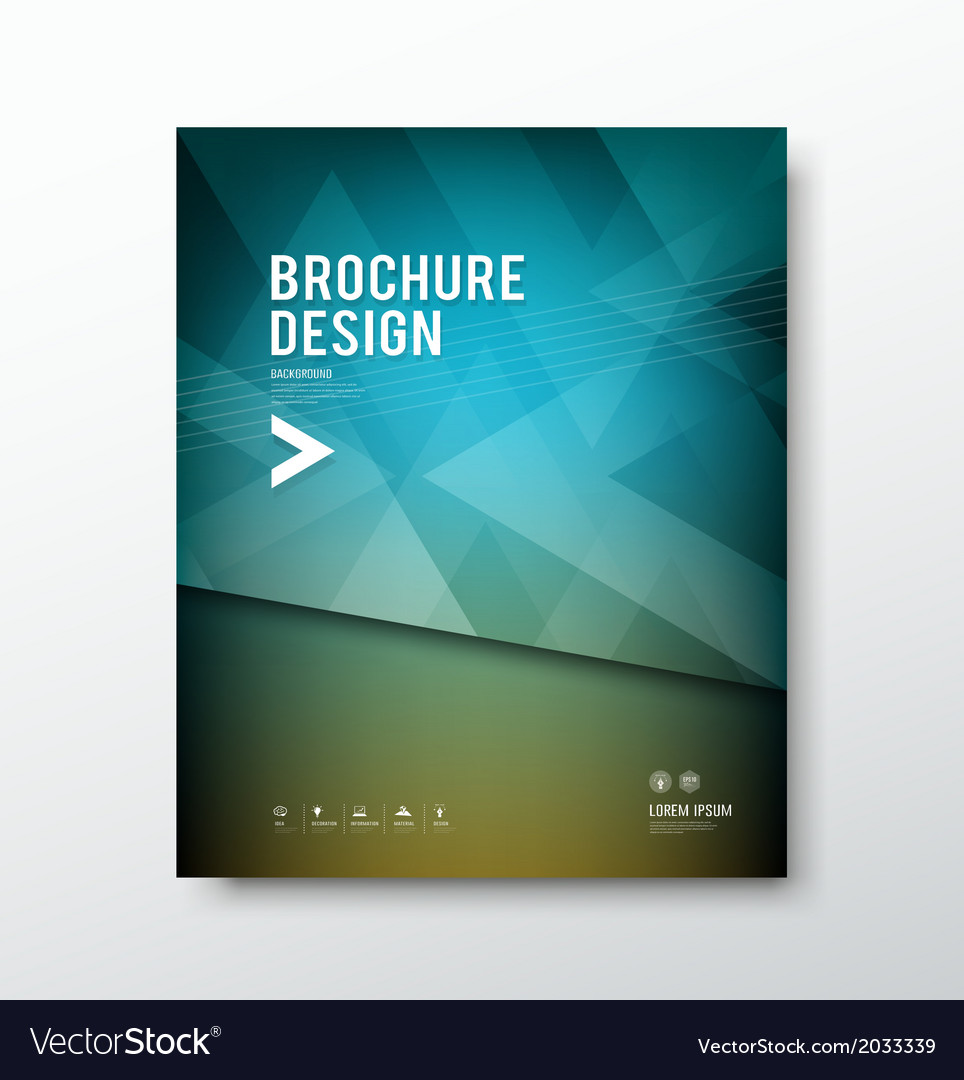 Cover brochure abstract triangle design blue backg vector | Price: 1 Credit (USD $1)
