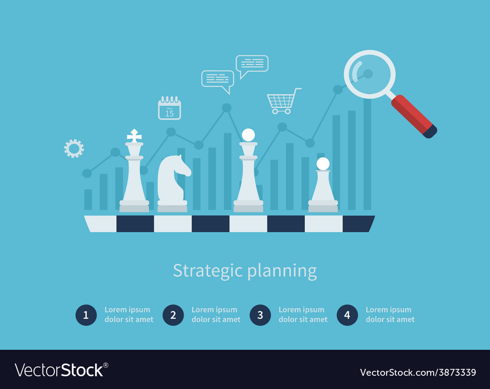 Data analysis strategy planning vector | Price: 1 Credit (USD $1)