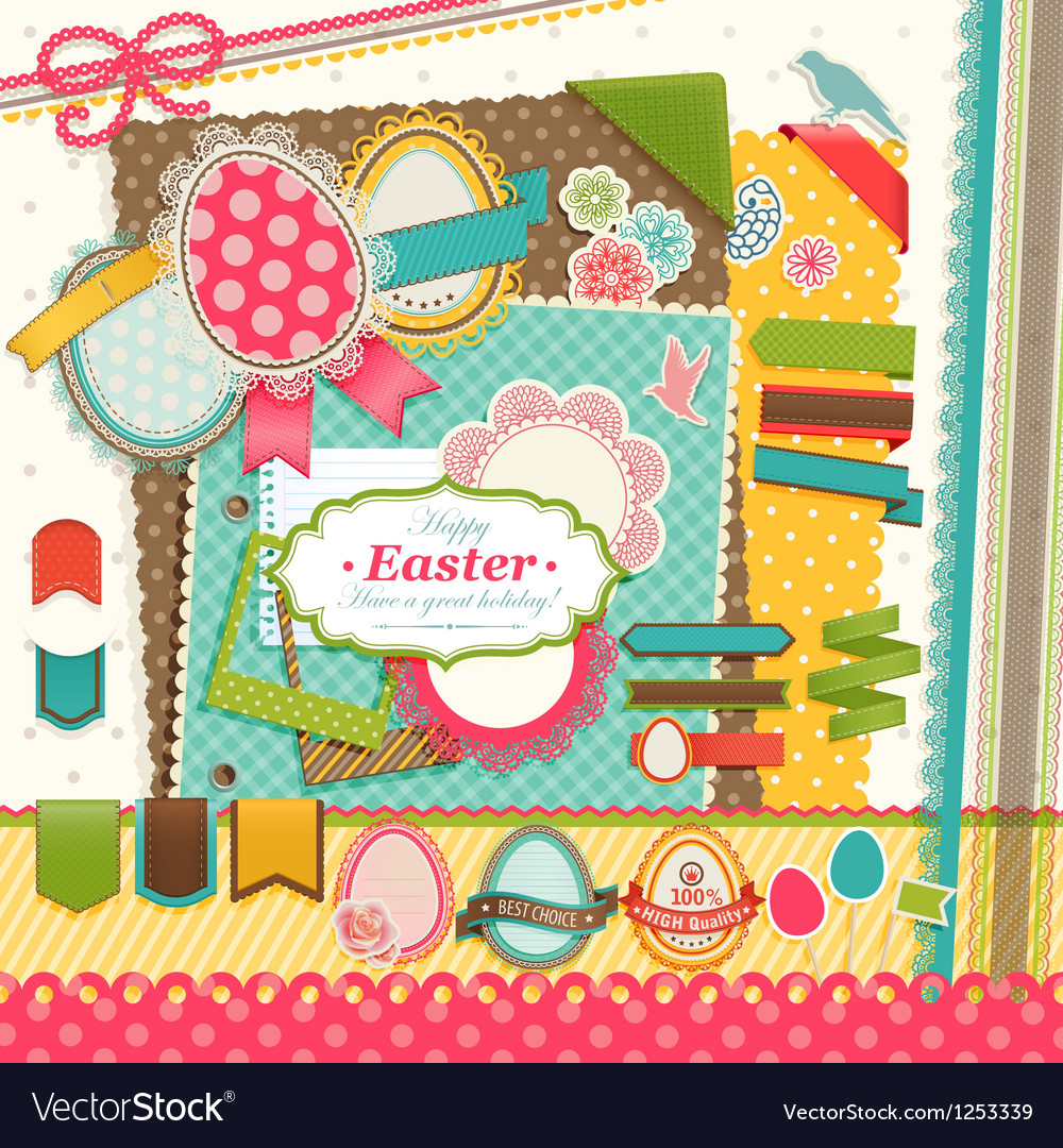 Easter scrapbook vector | Price: 3 Credit (USD $3)