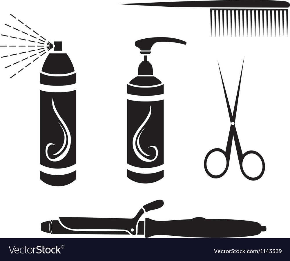 Hairdressing set vector | Price: 3 Credit (USD $3)