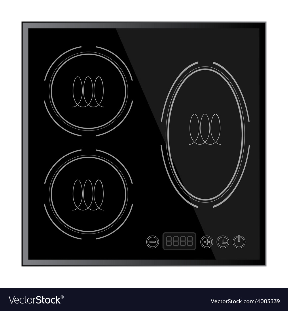 Kitchen - induction hob household appliances vector | Price: 1 Credit (USD $1)