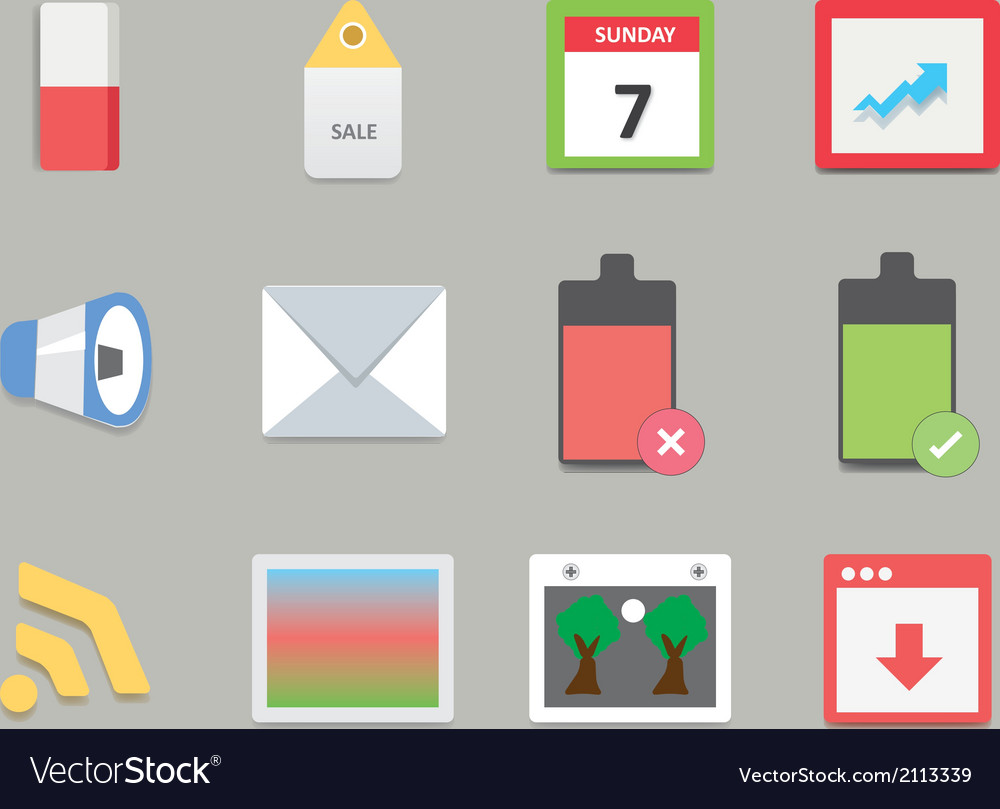Modern web icons 2 vector | Price: 1 Credit (USD $1)