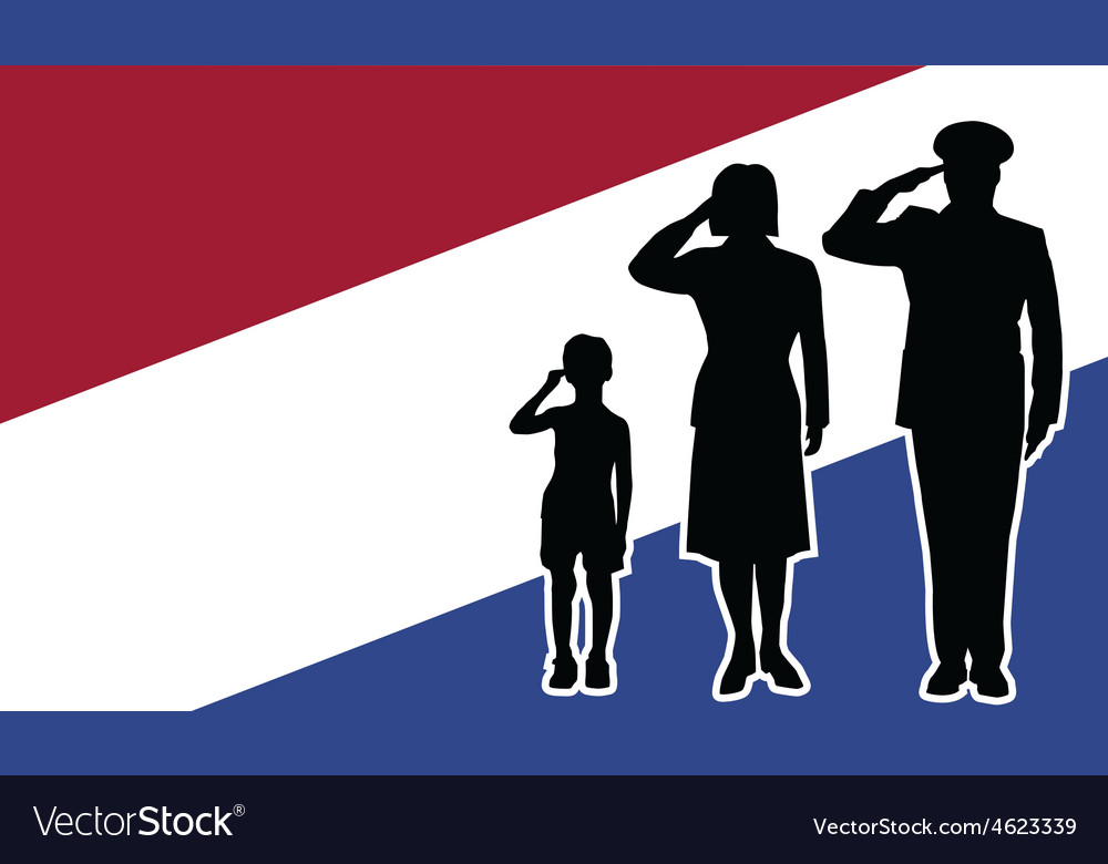 Netherlands soldier family salute vector | Price: 1 Credit (USD $1)