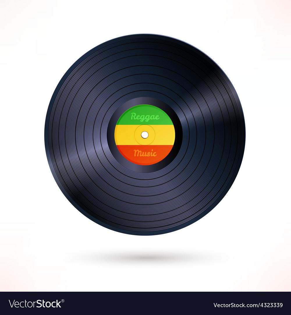 Reggae vinyl record vector | Price: 1 Credit (USD $1)