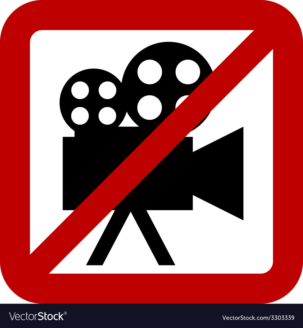 Sign of prohibition of video camera vector | Price: 1 Credit (USD $1)