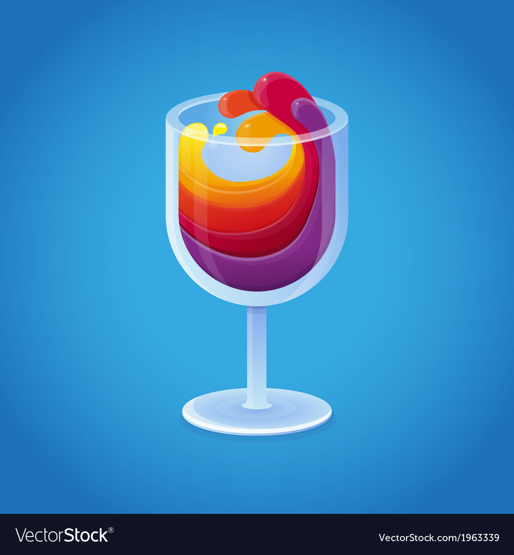 Wine glass vector | Price: 1 Credit (USD $1)