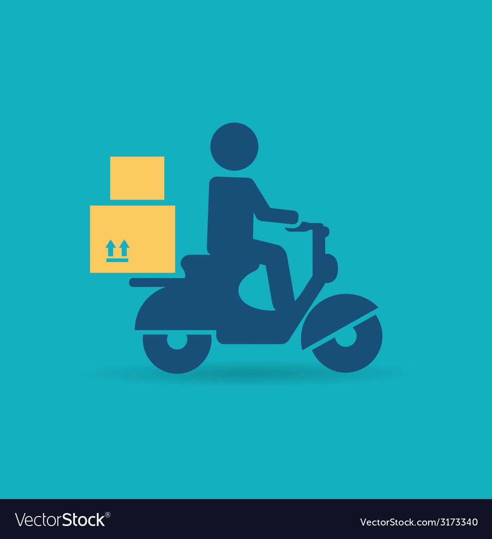 Delivery scooter icon vector | Price: 1 Credit (USD $1)