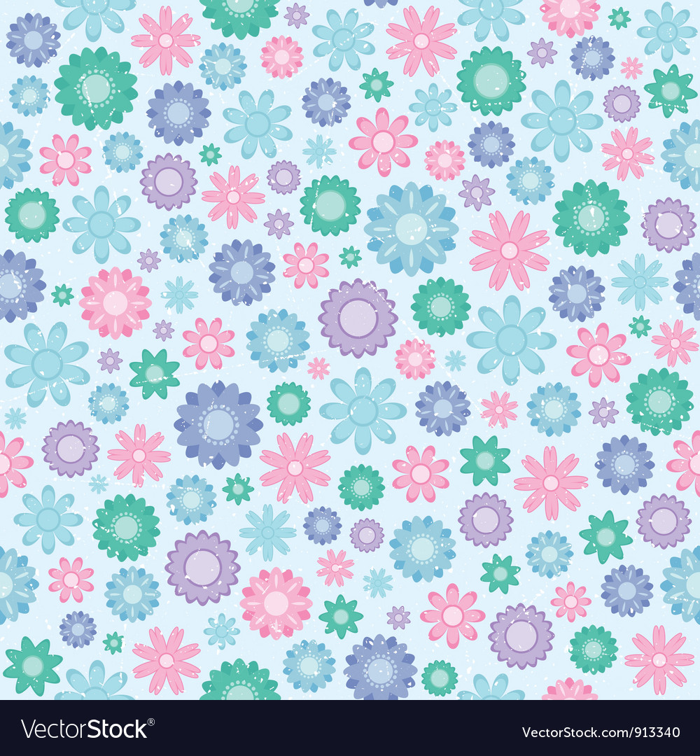 Floral seamless texture vector | Price: 1 Credit (USD $1)