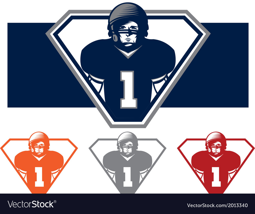 Football player icon vector | Price: 1 Credit (USD $1)