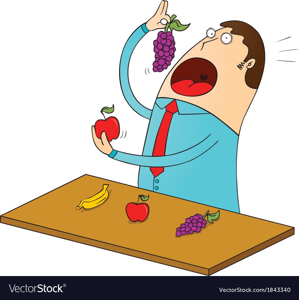 Fruitarian vector | Price: 1 Credit (USD $1)