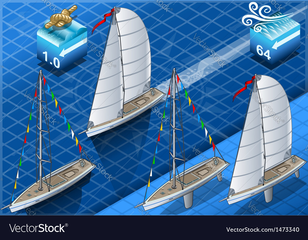 Isometric sailships in navigation vector   Price: 1 Credit (USD $1)