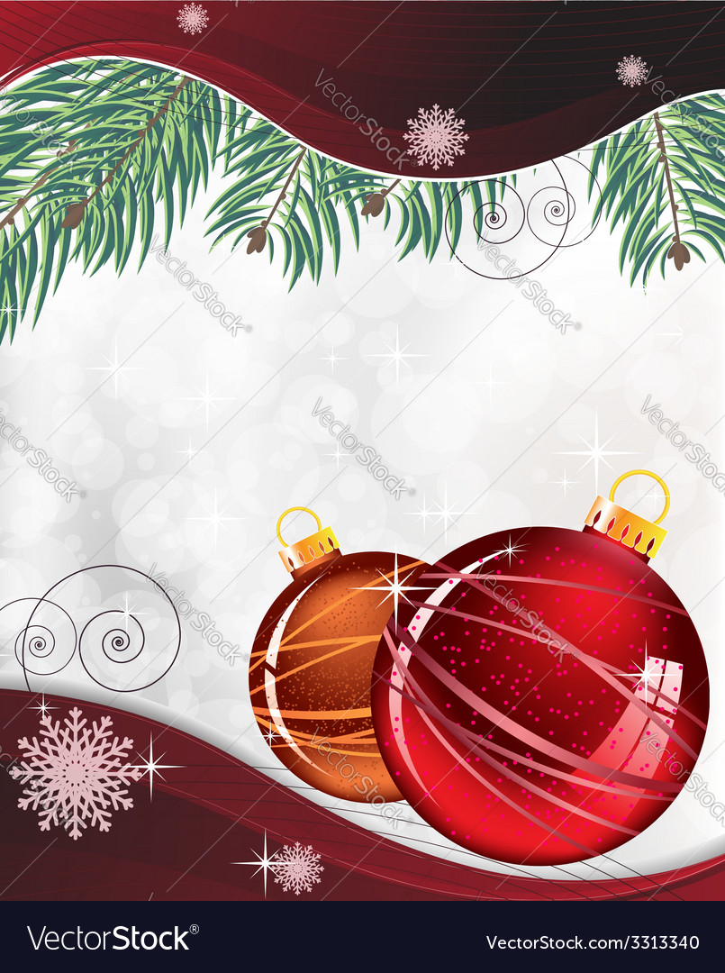 Red and orange christmas decorations vector | Price: 1 Credit (USD $1)