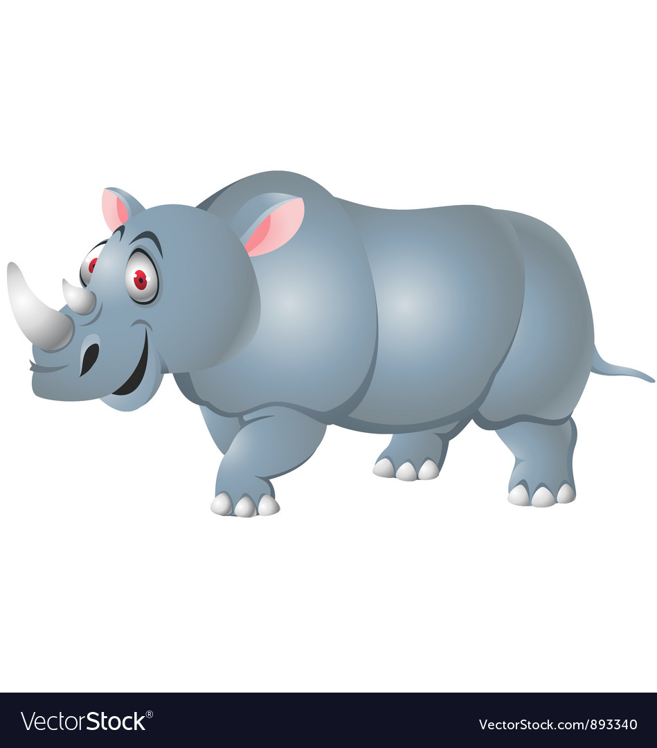 Rhino cartoon isolated vector | Price: 3 Credit (USD $3)