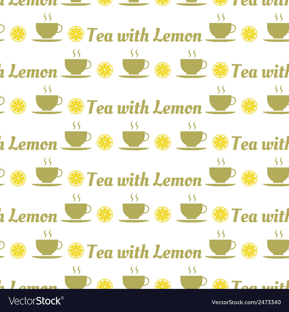 Seamless pattern of tea and lemons vector | Price: 1 Credit (USD $1)