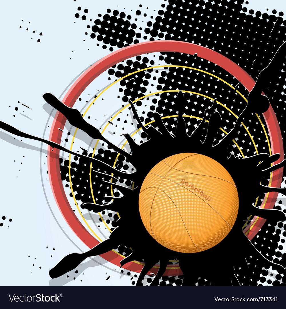 Abstract basketball ball vector | Price: 1 Credit (USD $1)