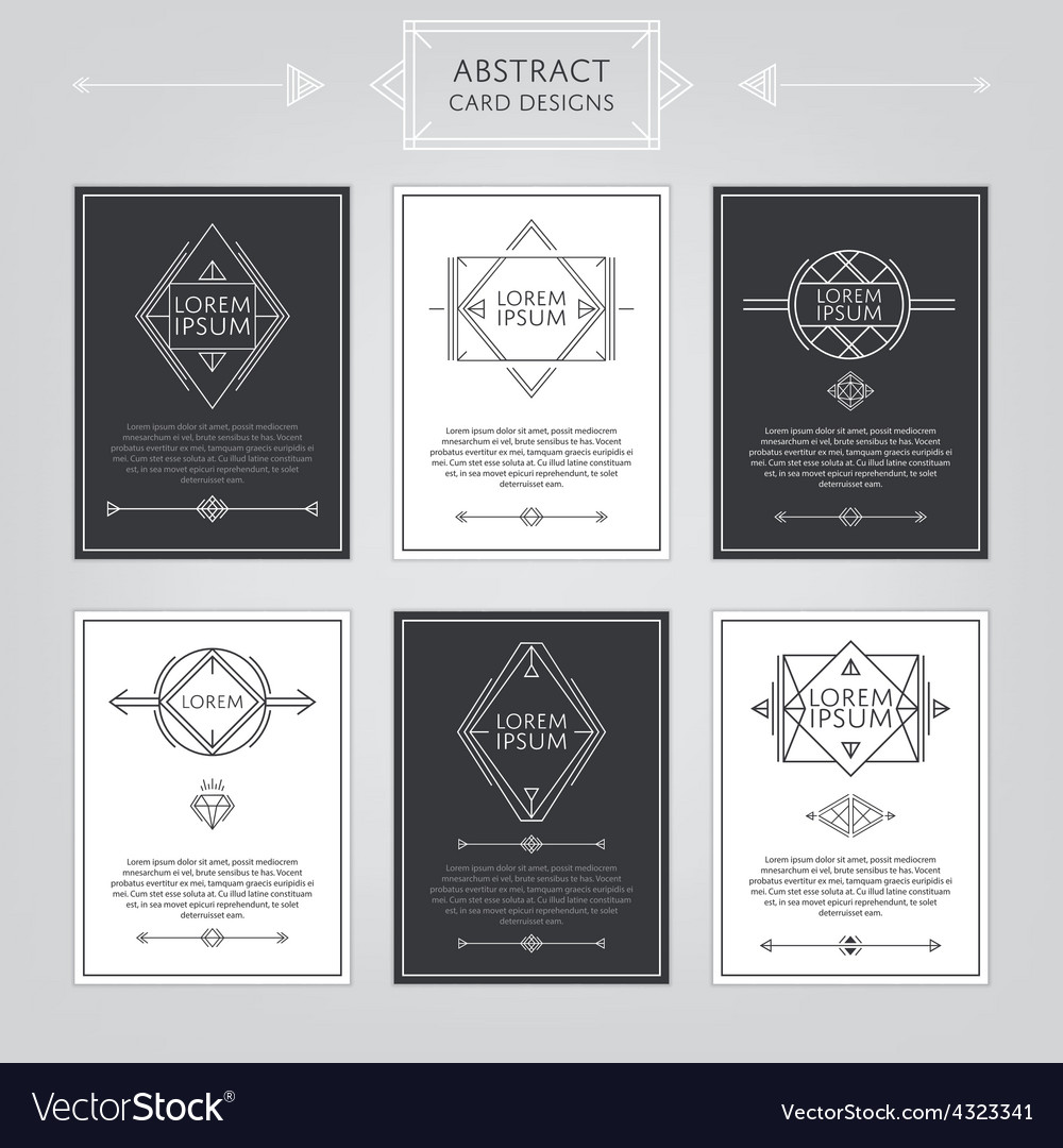 Abstract card designs set vector | Price: 1 Credit (USD $1)