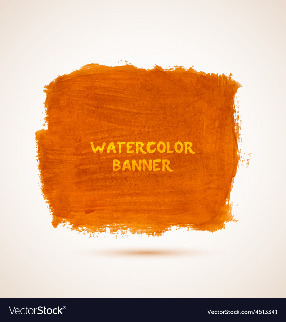 Abstract square orange watercolor hand-drawn vector | Price: 1 Credit (USD $1)