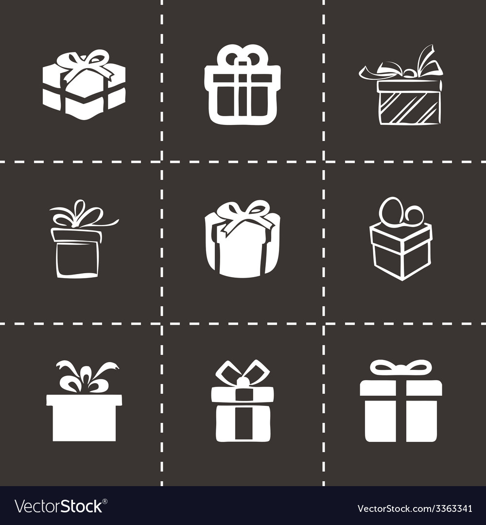 Gift icons set vector | Price: 1 Credit (USD $1)