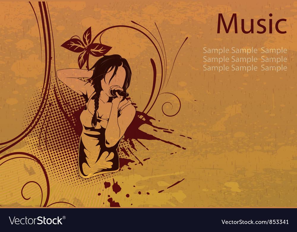 Grunge concert poster vector | Price: 1 Credit (USD $1)