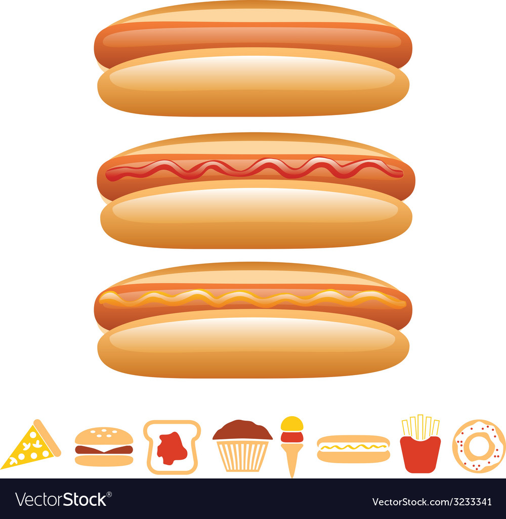 Hotdog collection vector | Price: 1 Credit (USD $1)