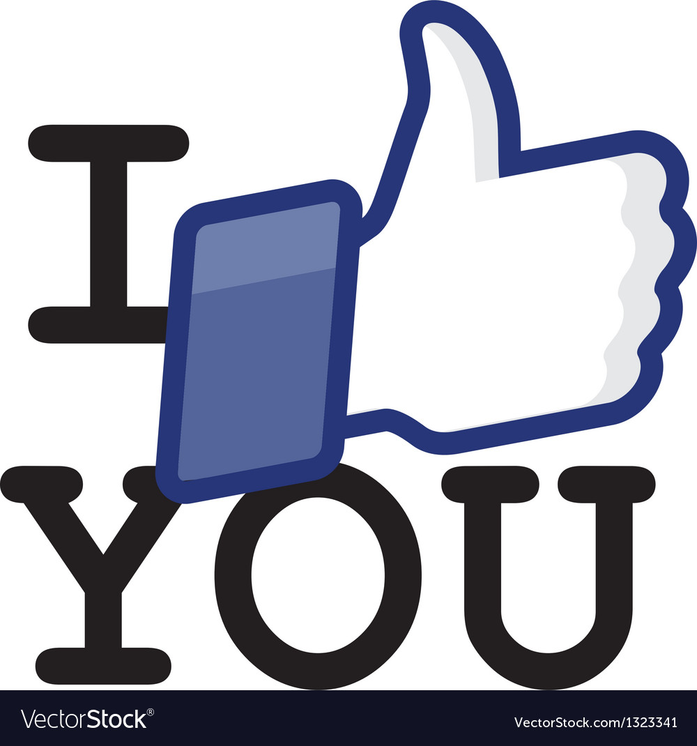 Likethumbs up symbol icon - i like you vector | Price: 1 Credit (USD $1)
