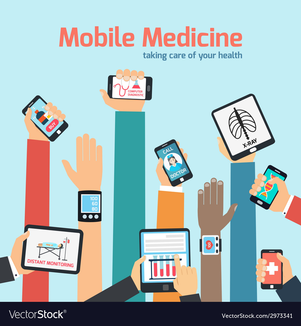 Mobile health concept vector | Price: 1 Credit (USD $1)