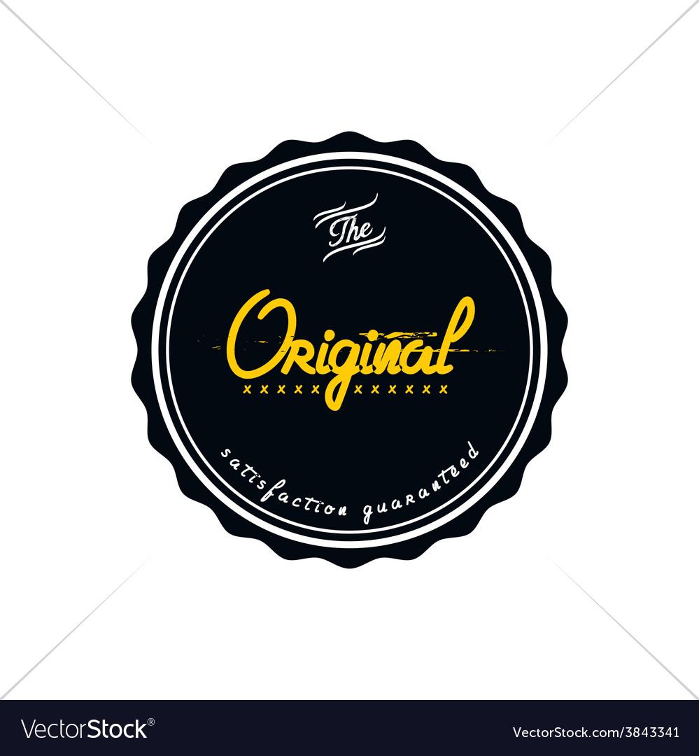 Vintage quality badge theme vector | Price: 1 Credit (USD $1)