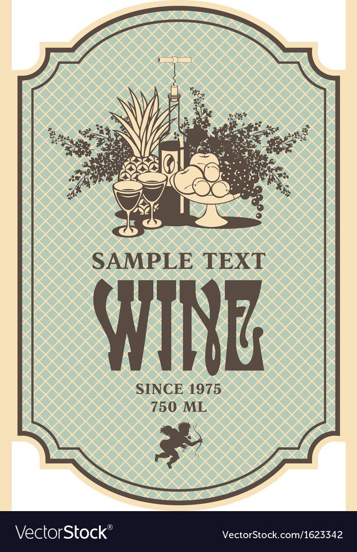 Baroque wine vector | Price: 1 Credit (USD $1)
