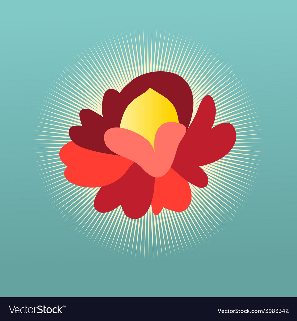 Beautiful flower sign vector | Price: 1 Credit (USD $1)