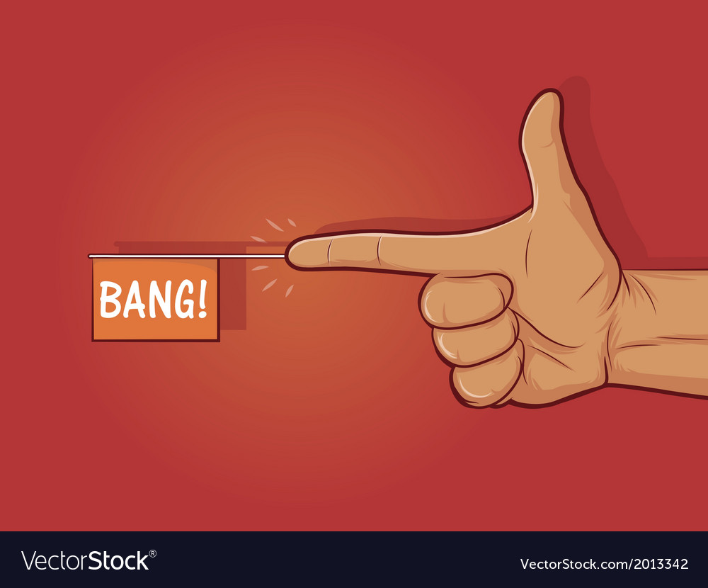 Finger gun vector | Price: 1 Credit (USD $1)