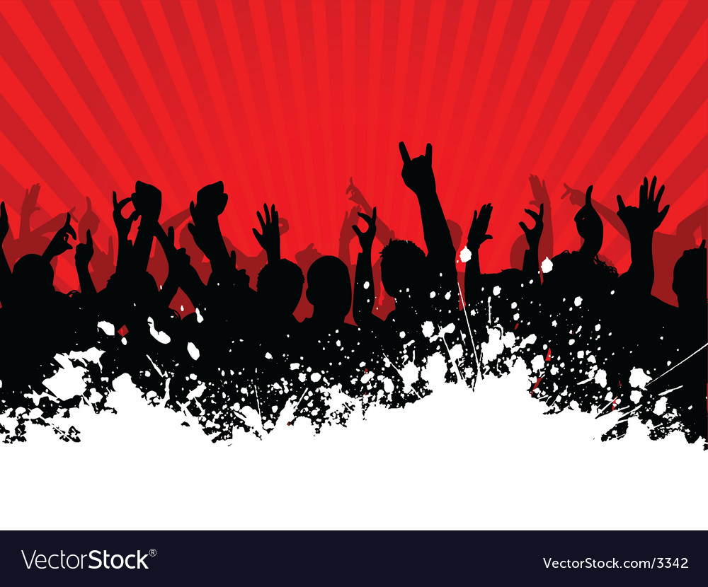 Grunge crowd vector | Price: 1 Credit (USD $1)