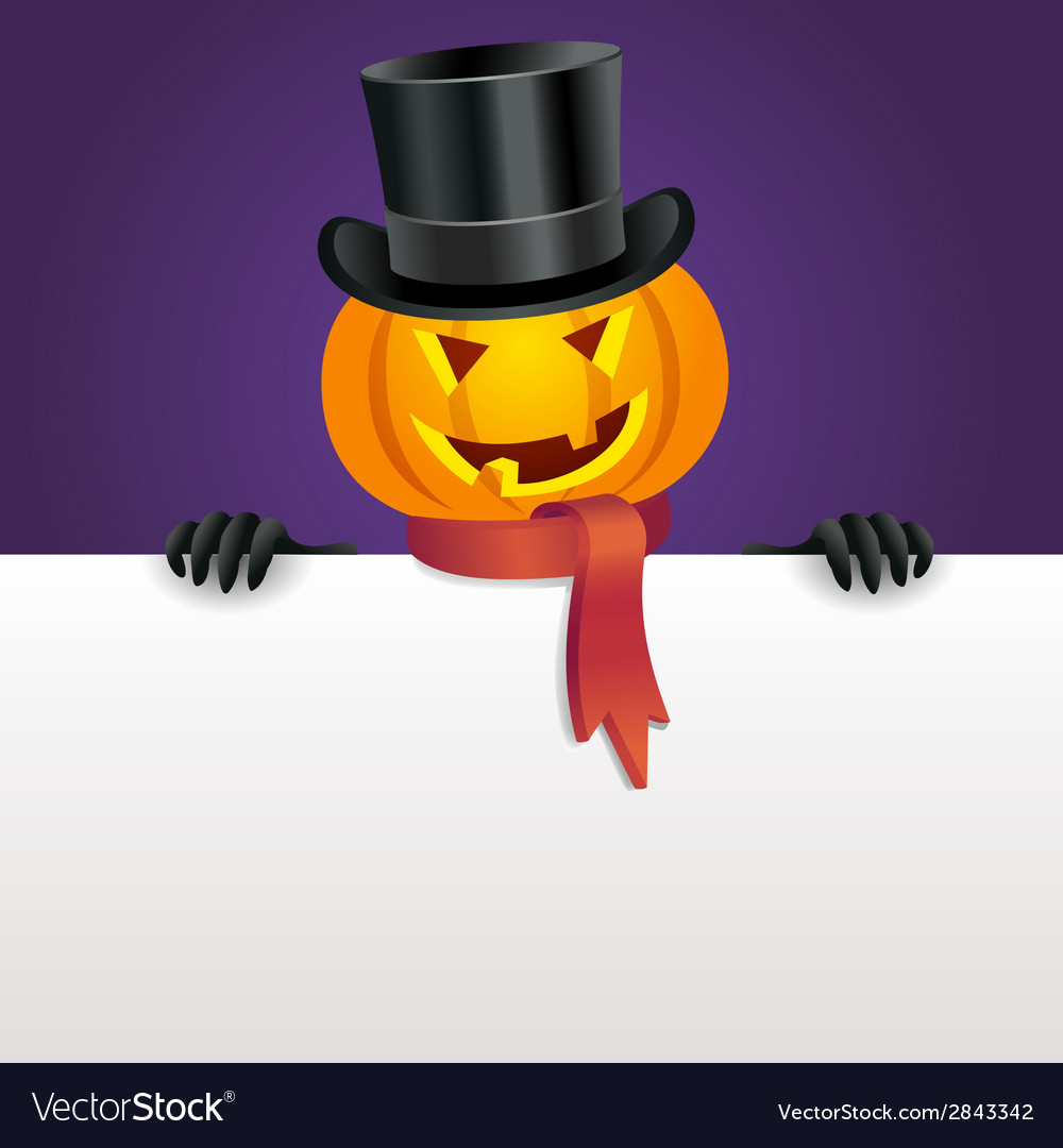 Halloween invitation with pumpkin vector | Price: 1 Credit (USD $1)
