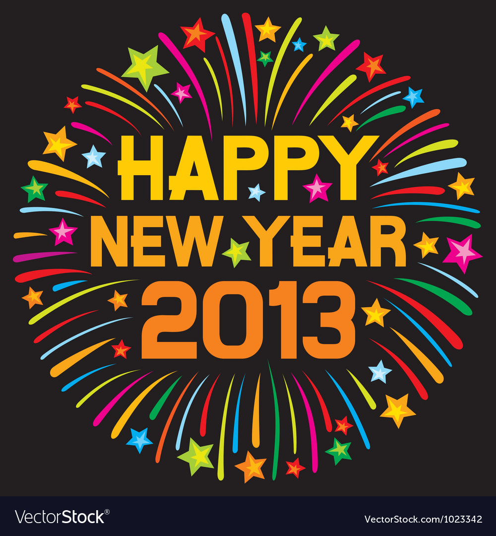Happy new year 2013 firework vector | Price: 1 Credit (USD $1)