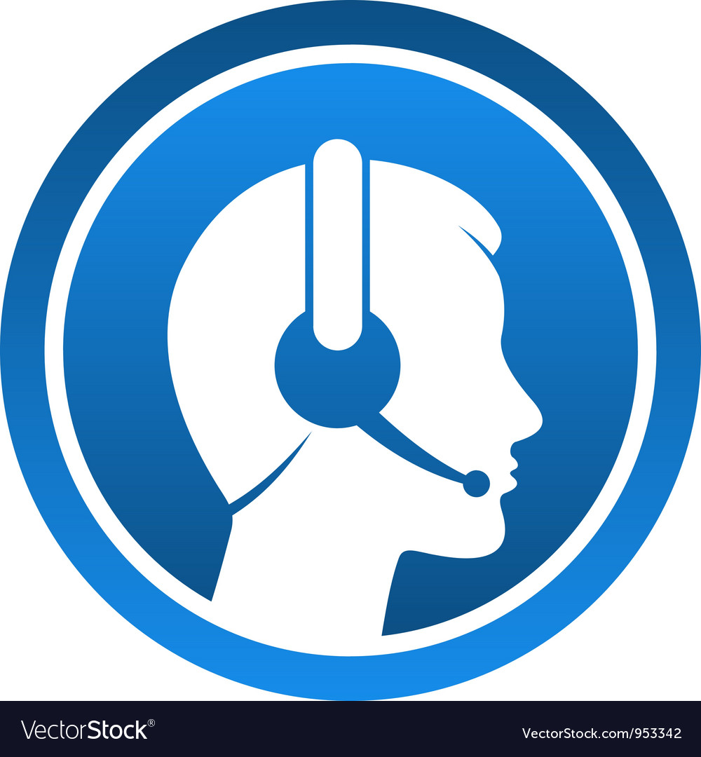 Headset contact icon vector | Price: 1 Credit (USD $1)