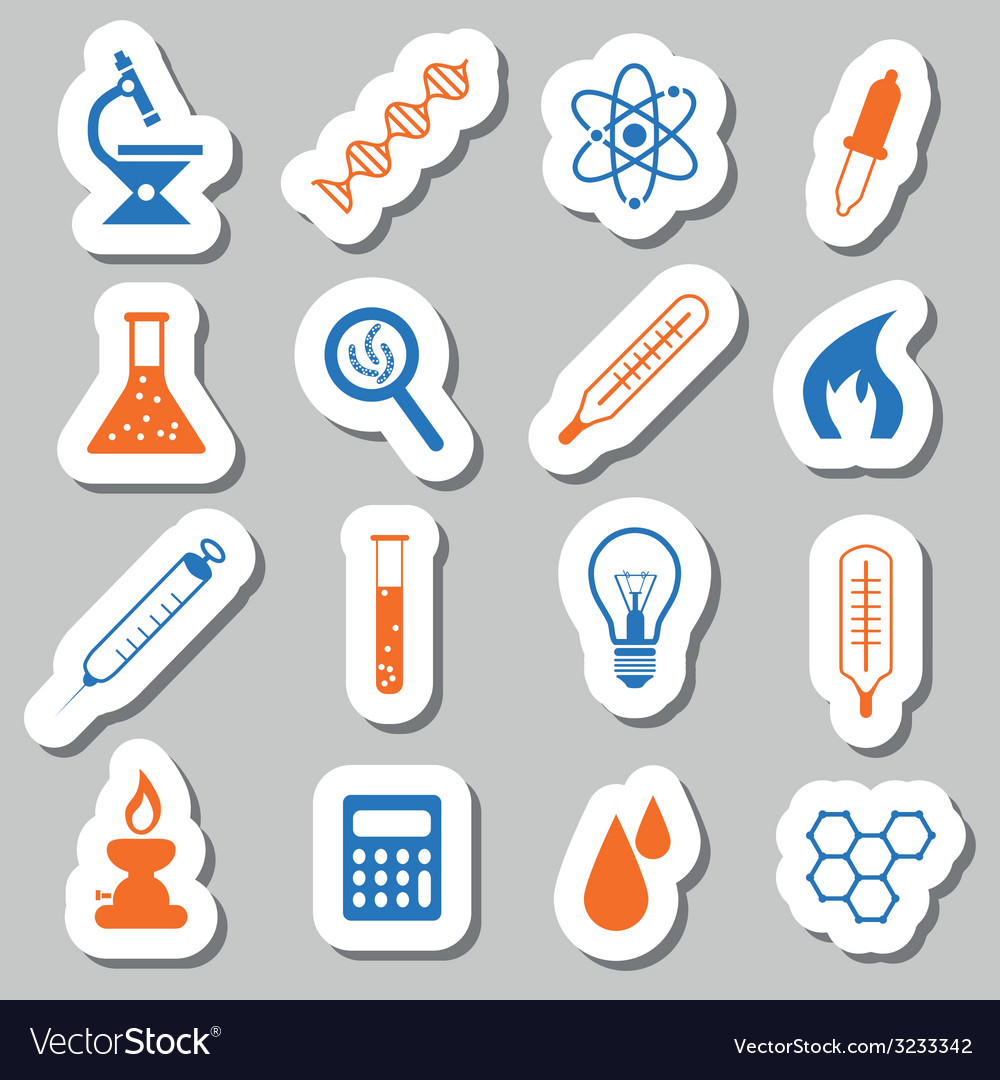 Laboratory stickers vector | Price: 1 Credit (USD $1)