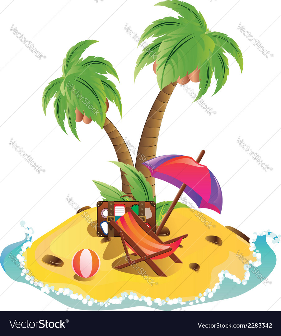 Mini island vector | Price: 1 Credit (USD $1)