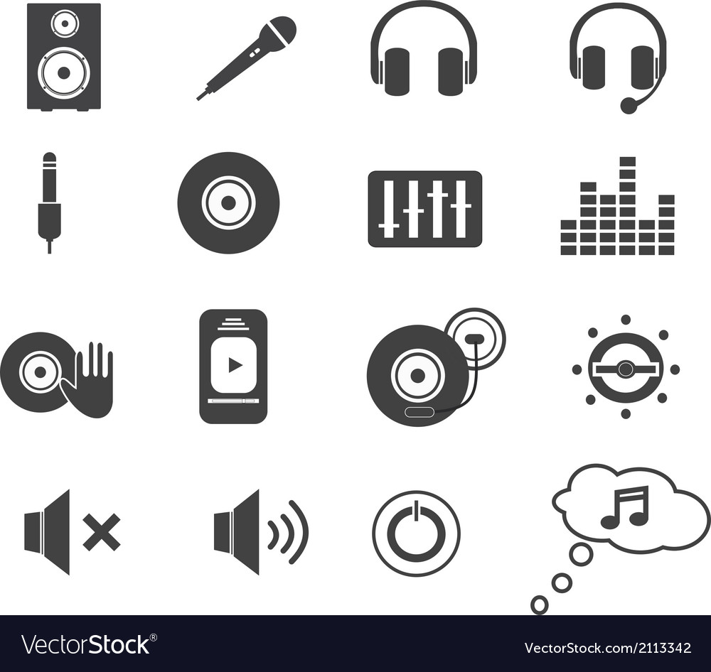 Music icons set vector | Price: 1 Credit (USD $1)