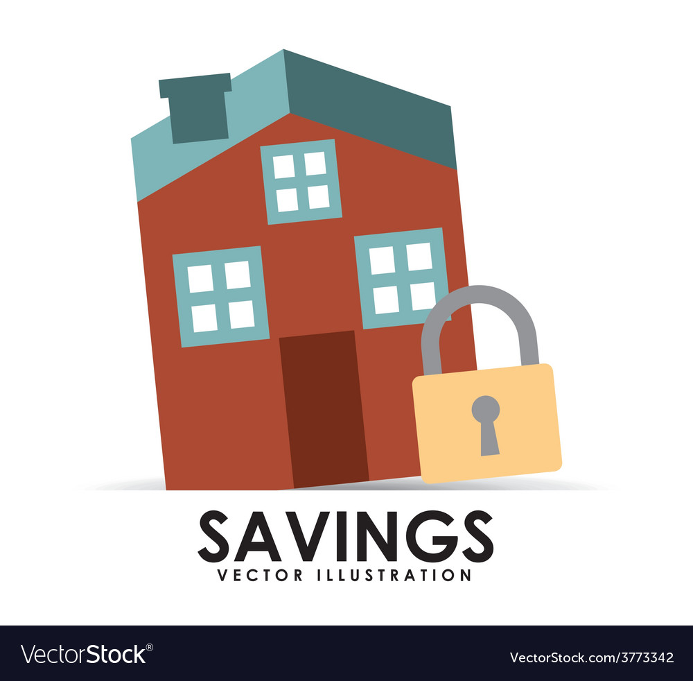 Savings house vector | Price: 1 Credit (USD $1)