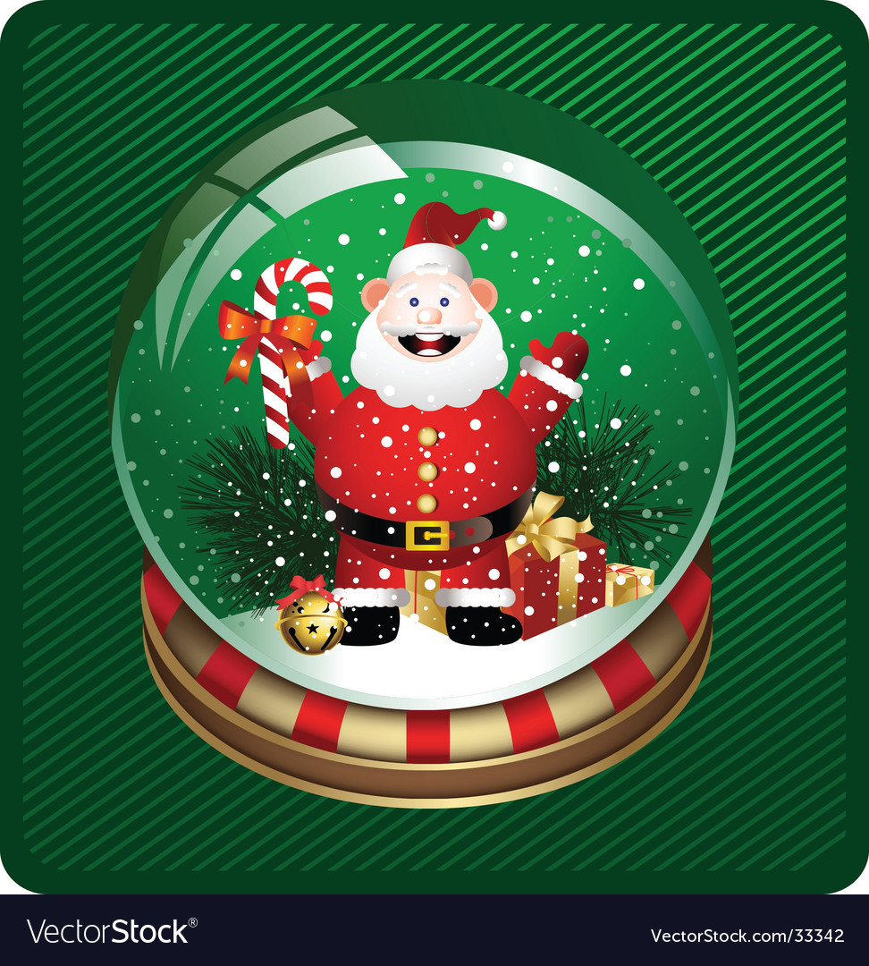 Snow globe with santa vector | Price: 3 Credit (USD $3)