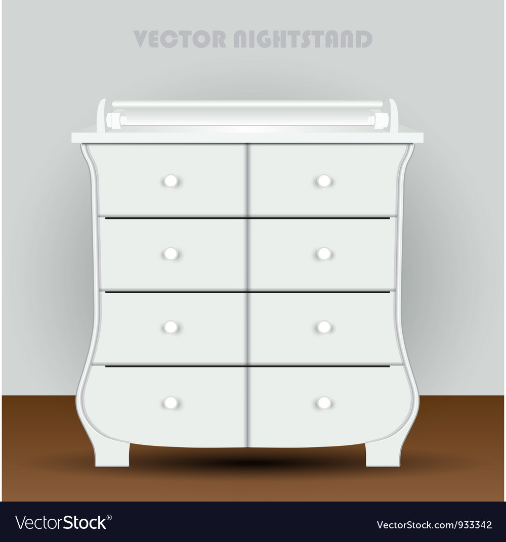 Vintage table on white background vector | Price: 1 Credit (USD $1)