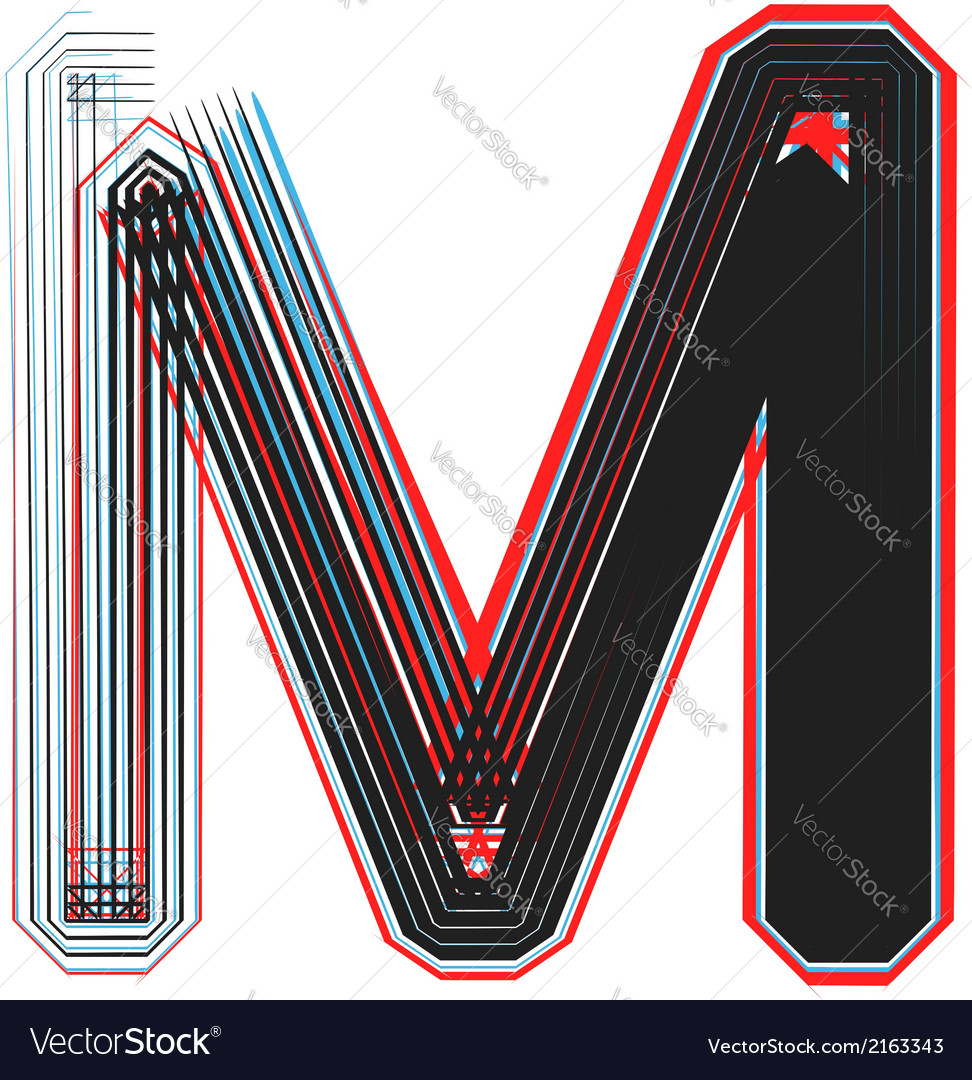Abstract font letter m vector | Price: 1 Credit (USD $1)