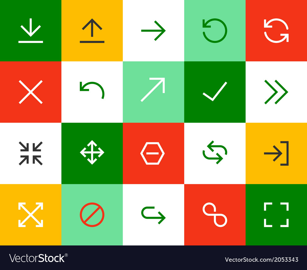 Arrows and signs flat vector | Price: 1 Credit (USD $1)