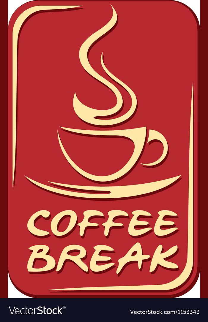 Coffee break label vector | Price: 1 Credit (USD $1)