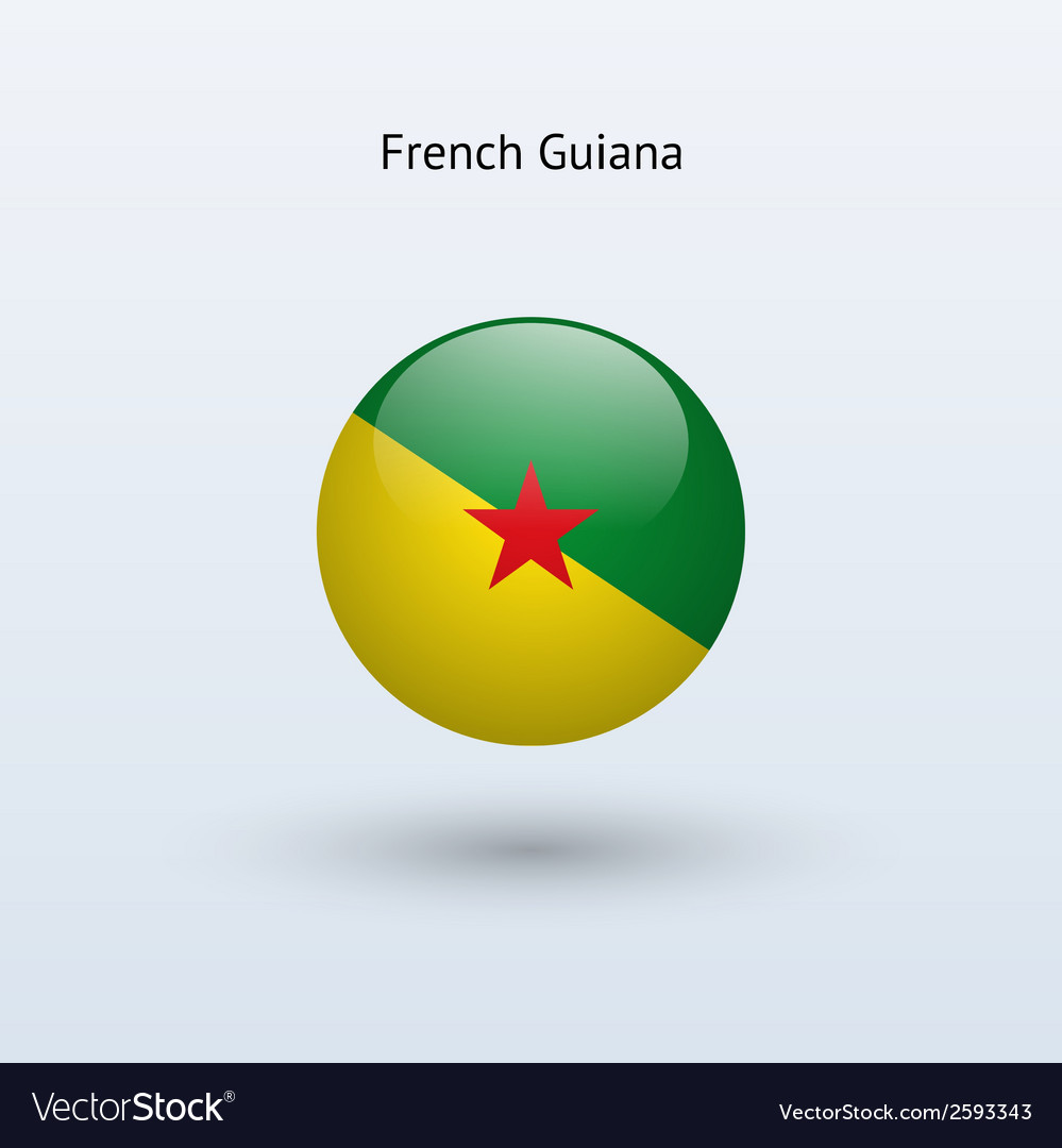 French guiana round flag vector | Price: 1 Credit (USD $1)
